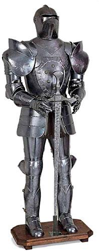 Medieval armor from exposure