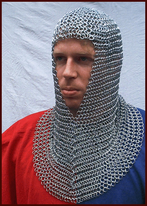 Chainmail coif Armor ID 9mm
