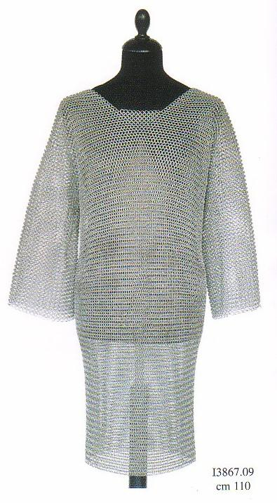 Chainmail, Medieval Armor (sizes: L, XL -ID9mm)