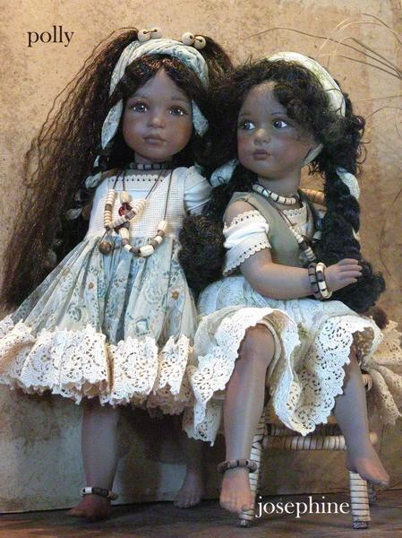 Dolls Porcelain - Polly and Josephine