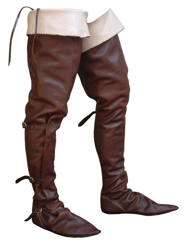 Medieval Clothing: Fourteenth century horse boots
